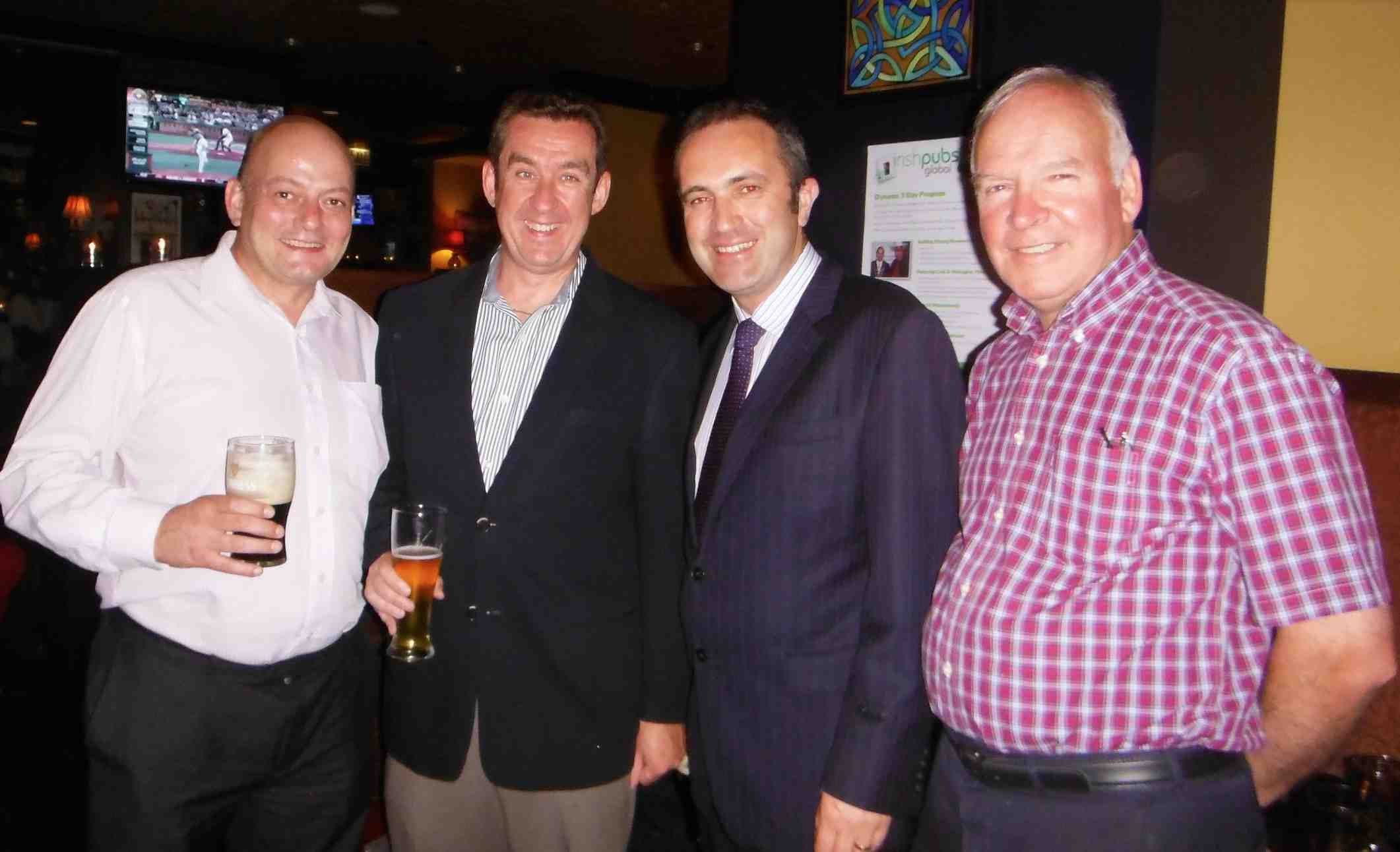 Vincent Tuohy (The Irish Legend), Kevin Vaughan ( Emerald Loop etc) Adrian Cronin, (Counsel General of Ireland Chicago), Tom Hayes, (Enterprise Ireland)